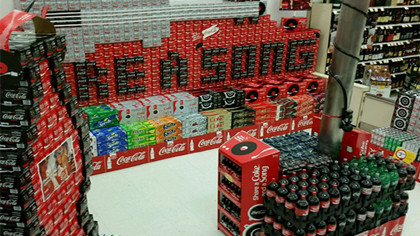 In-store Coke product display