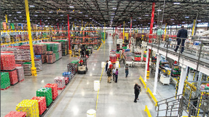Coca-Cola warehouse